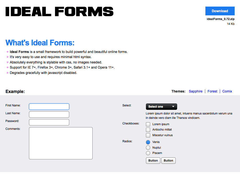Ideal Forms - demo image